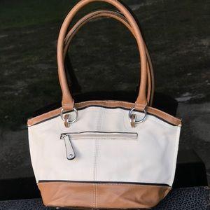 Tignanello - Leather Shoulder Bag - Two Tone